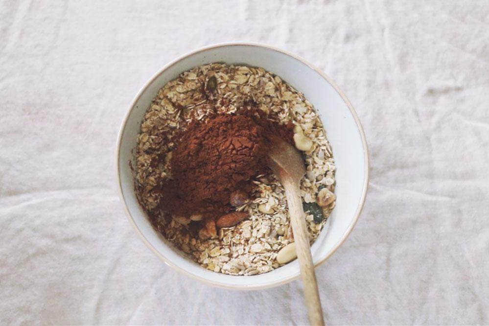 glutenvrije chocolade granola