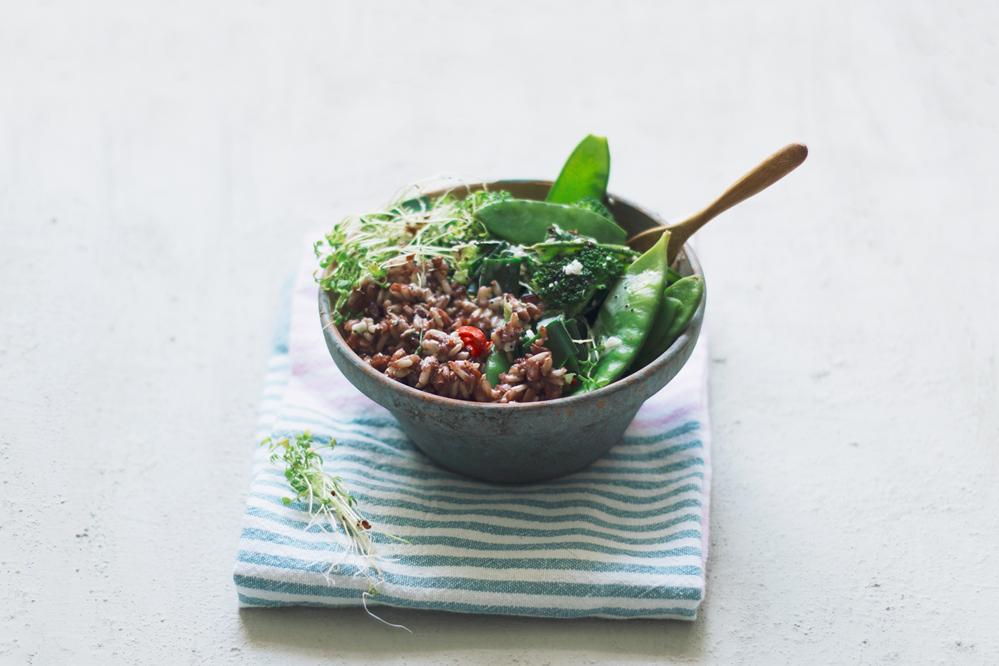 vegan rijst bowl
